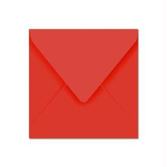 Enveloppe Pollen 140 x 140 Rouge corail x 20