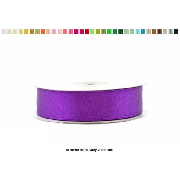 Ruban satin 18 mm de large par bobine de 25m violet - Photo n°1