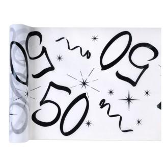 Chemin de table anniversaire 50 ans