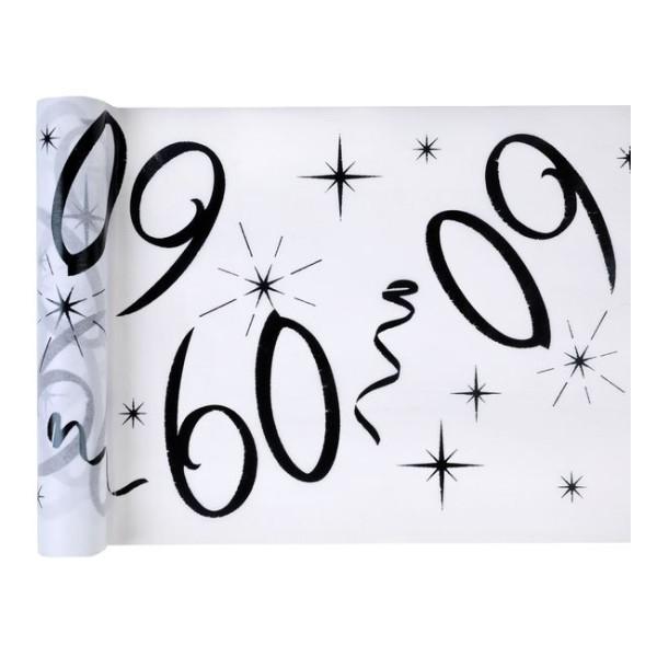 Chemin de table anniversaire 60 ans - Photo n°1