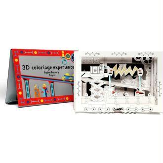 Coloriage en 3D La Fabrique de Robots Color Box Robot factory Mon Petit Art