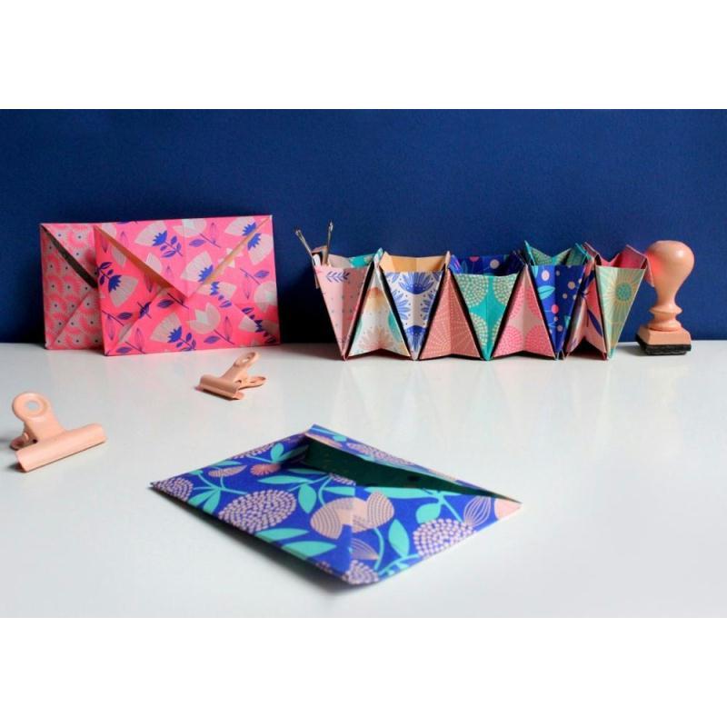 papier origami turquoise bifaces mon petit art 36 feuilles 15x15 cm kit origami creavea. Black Bedroom Furniture Sets. Home Design Ideas