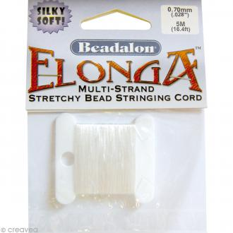 Fil élastique Elonga 0,7 mm - Blanc - 5 mètres