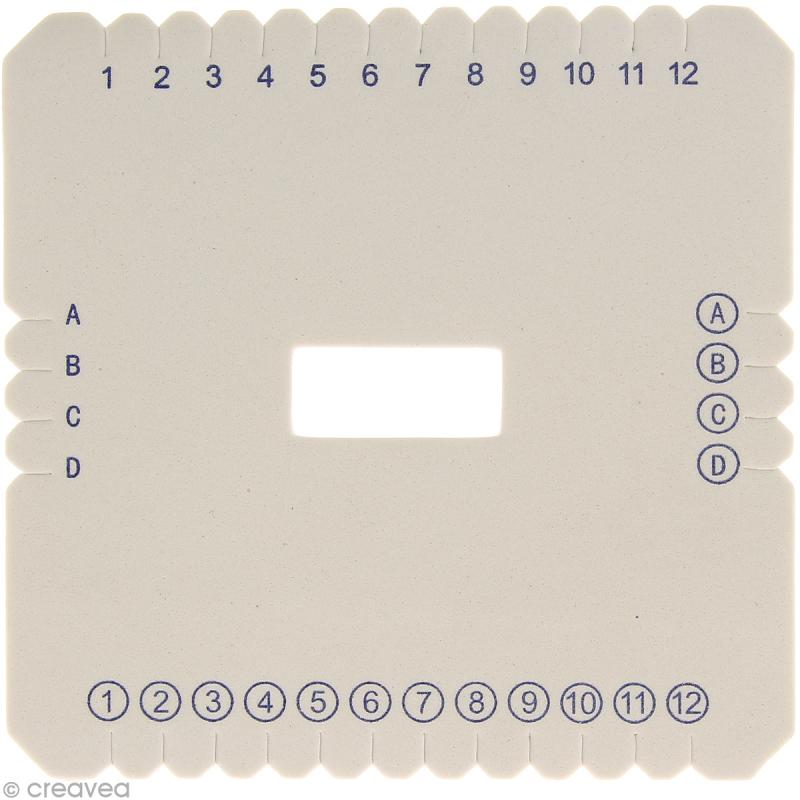 Mobidai Kumihimo carré - Disque 14 cm - Photo n°2