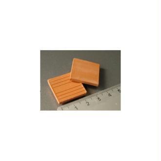 Tuiles plates ou Carreaux rouges, 25 pièces 24 x 24 x 3 mm - Echelle 1/10