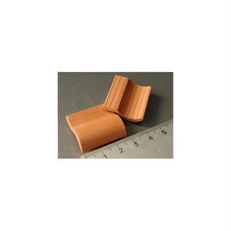 Tuiles Romanes rouges, 100 pièces 28 x 26 x 9 mm - Echelle 1/10