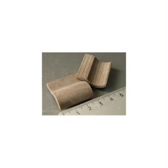 Tuiles Romanes grises, 25 pièces 28 x 26 x 9 mm - Echelle 1/10