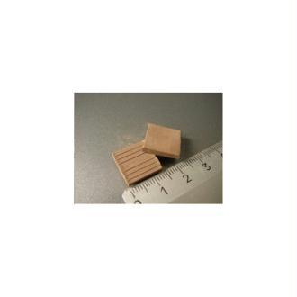 Tuiles plates ou Carreaux gris, 150 pièces 15 x 15 x 2 mm - Echelle 1/20