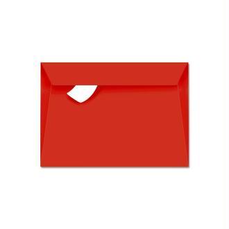 Enveloppe Pollen 114 x 162 Rouge corail x 20
