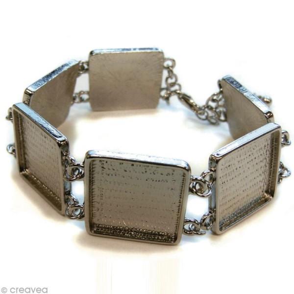Bracelet à personnaliser Carré 20 mm - Argenté - Photo n°2
