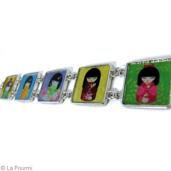 Bracelet à personnaliser Carré 20 mm - Argenté - Photo n°3