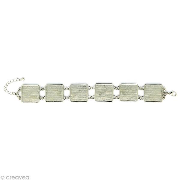 Bracelet à personnaliser Carré 20 mm - Argenté - Photo n°1