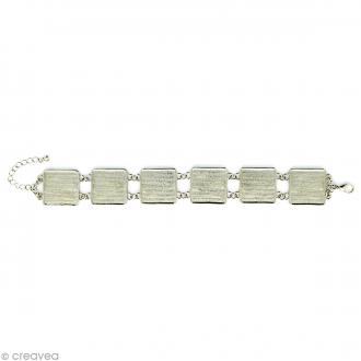 Bracelet à personnaliser Carré 20 mm - Argenté