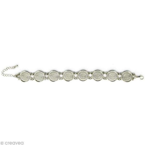Bracelet à personnaliser Rond 16 mm - Argenté - Photo n°1