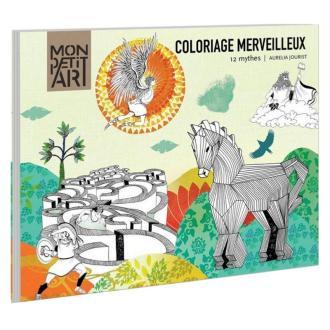 Frise Coloriage Merveilleux 12 mythes grecs Mon Petit Art