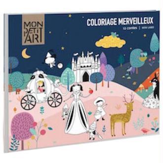Frise Coloriage Merveilleux 12 contes Mon Petit Art