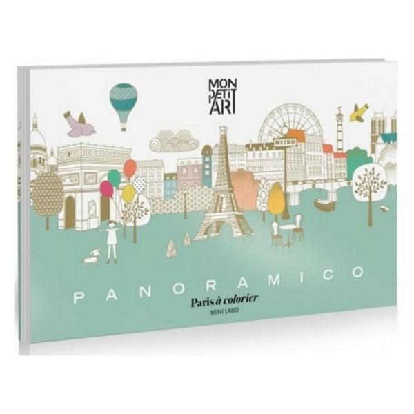 Coloriage Panoramique Monuments De Paris Mon Petit Art Paper Toy