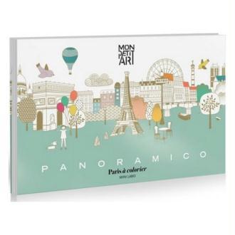 Coloriage Panoramique Monuments de Paris Mon Petit Art