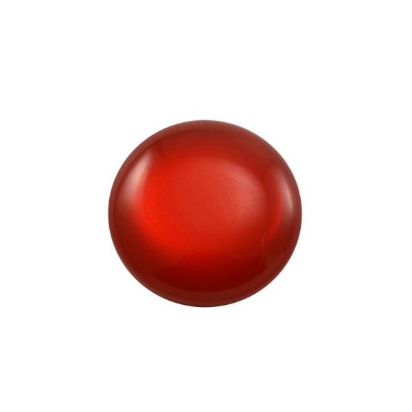 Cabochon rond polaris 12 mm rouge - Photo n°1