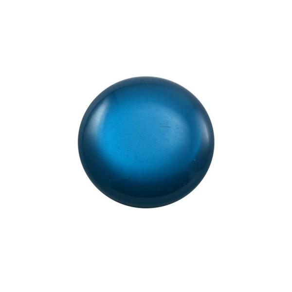 Cabochon rond polaris 12 mm bleu - Photo n°1