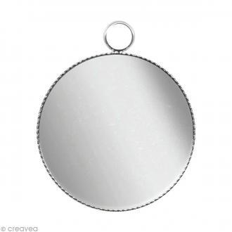 Support pendentif plateau rond pour cabochon 16 mm - Argenté