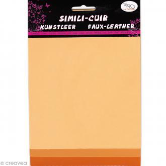 Coupons de simili-cuir - Assortiment Orange - 16 x 20 cm - 3 pcs