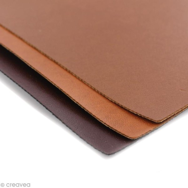 Coupons de simili-cuir - Assortiment Marron - 16 x 20 cm - 3 pcs - Photo n°2