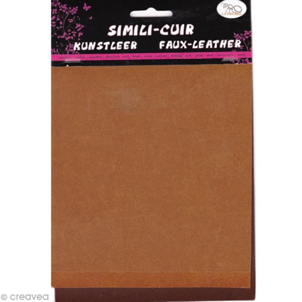 Coupons de simili-cuir - Assortiment Marron - 16 x 20 cm - 3 pcs - Photo n°1