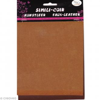Coupons de simili-cuir - Assortiment Marron - 16 x 20 cm - 3 pcs
