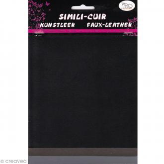 Coupons de simili-cuir - Assortiment Noir - 16 x 20 cm - 3 pcs