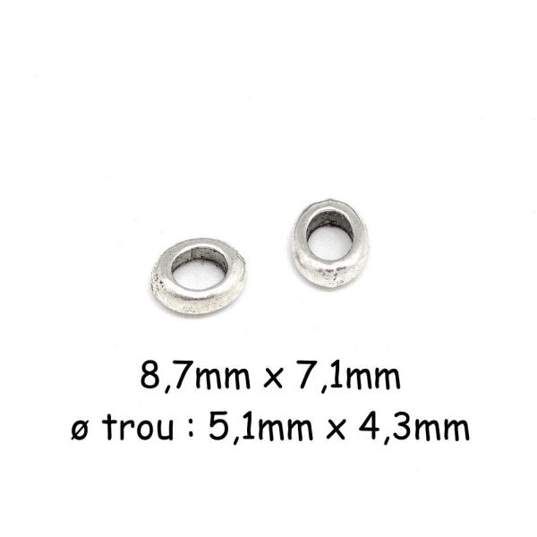 30 Perles intercalaires en Bois Couleur Jaune 10mm Perle rondelle 10 x 5mm
