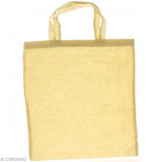 Sac tote bag en toile - Coton blanc écru - 38 x 42 cm