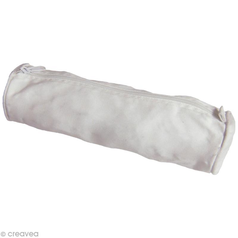 Trousse d'écolier à décorer - Coton blanc - 25 x 7 cm - Photo n°1