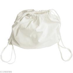 Sac marin avec lien - Coton blanc - 35 x 33 cm
