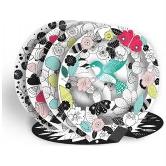 Coloriage 3D rond Le Colibri 3D Color Bulle Mon Petit Art