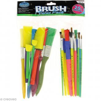 Set de pinceaux et tampons pour enfants - 25 pcs