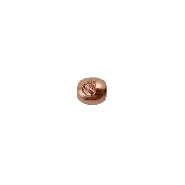 Perles scrimp ovales métal plaqué cuivre 3.5mm (2) - Photo n°1