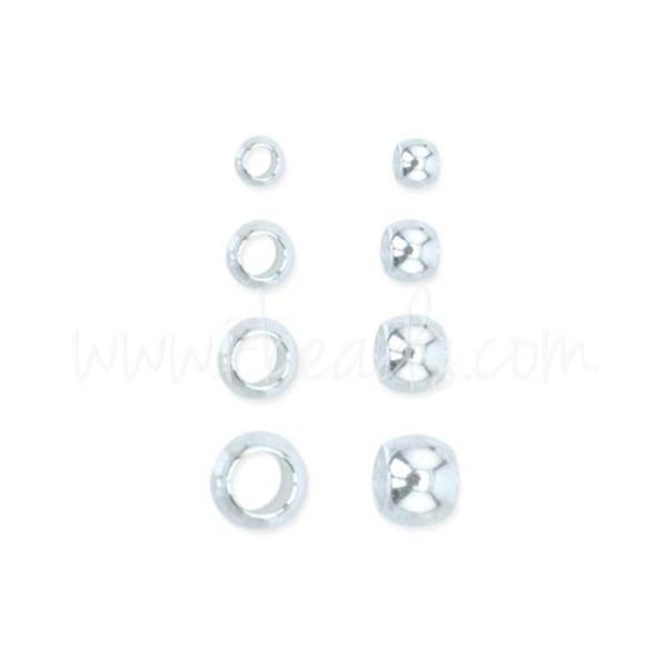 Assortiment perles a écraser Beadalon métal plaqué argent 600 pièces (1) - Photo n°1