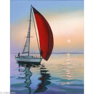 Image 3D Paysage - Bateau solitaire - 24 x 30 cm