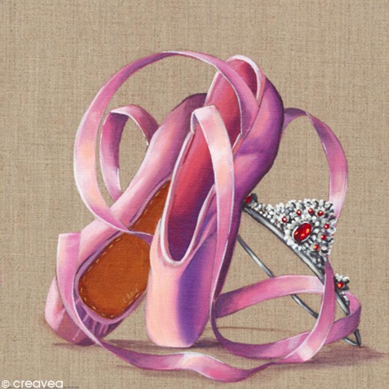 Image 3D Divers - Chaussons danse et couronne - 30 x 30 cm - Photo n°1