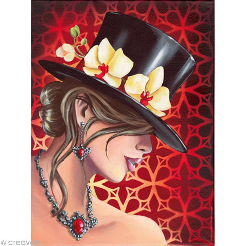 Image 3D Femme - Femme cabaret - 30 x 40 cm - Photo n°1