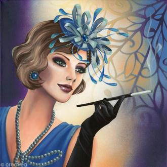 Image 3D Femme - Femme charleston - 40 x 40 cm