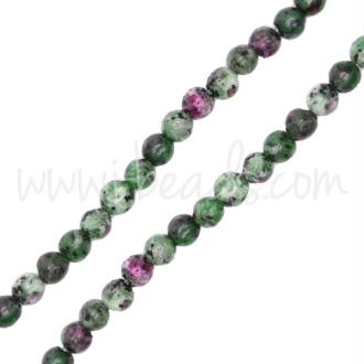 Perles rondes rubis zoisite chinoise 4mm (1)