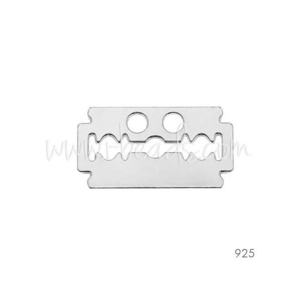 Lien laser cut argent 925 lame de rasoir (1) - Photo n°1
