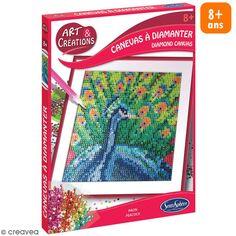 Coffret Art & Créations - Kit tableau diamant - Paon