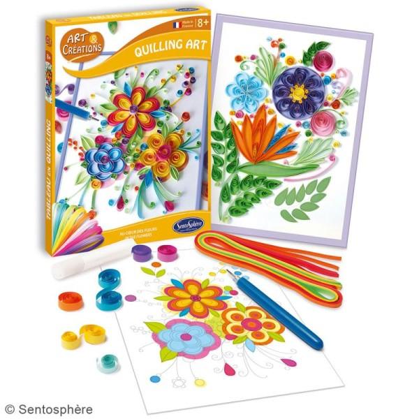 Coffret Art & Créations - Kit Quilling - Fleurs - Photo n°2