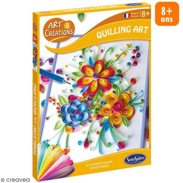 Coffret Art & Créations - Kit Quilling - Fleurs - Photo n°1