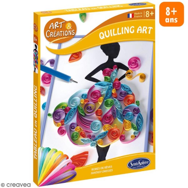 Coffret Art & Créations - Kit Quilling - Robes de rêve - Photo n°1
