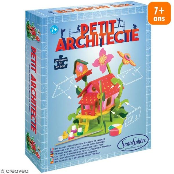 Kit puzzle 3D Petit Architecte - Maison dans les fleurs - Photo n°1