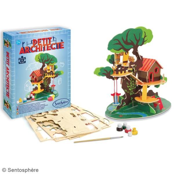 Kit puzzle 3D Petit Architecte - Maison dans les arbres - Photo n°2